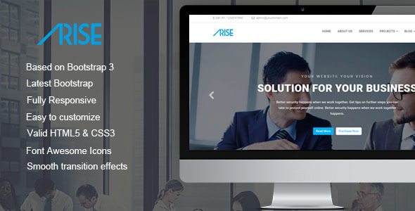 Arise - Finance & Business HTML5 Template