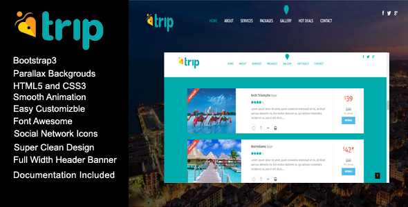 MyTrip Creative Travel Agency HTML Template